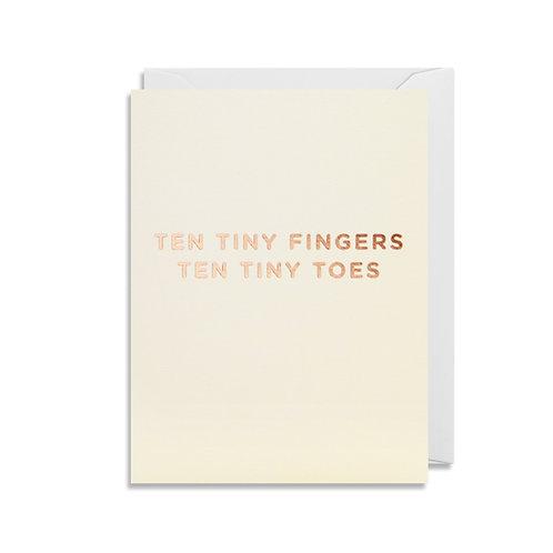 Mini Card - Ten Tiny Fingers Ten Tiny Toes