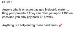 Pre pay meter money back