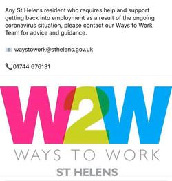St Helens ways to work