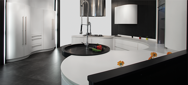 Modell Bari Laminat som grepsløst kjøkken