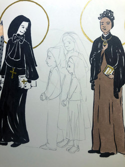Fatima Saints Sketch