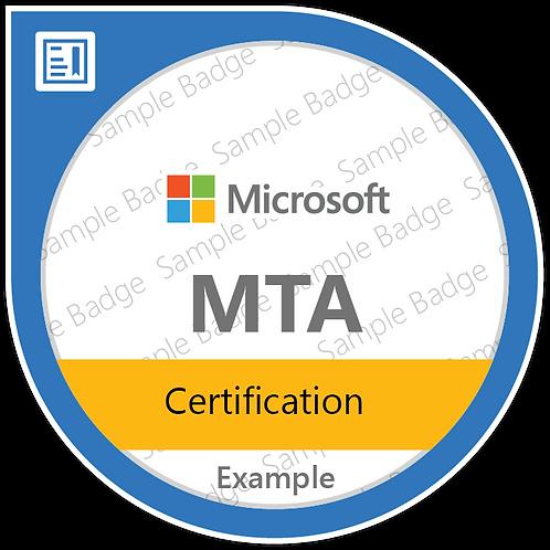 Microsoft MTA Certification