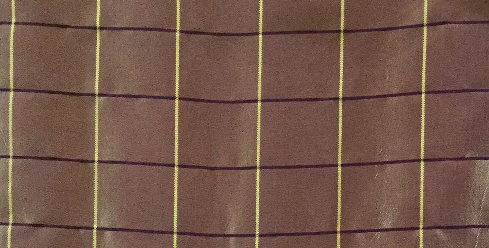 Shimmery Purple and Gold Plaid Silk