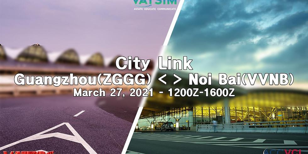 Guangzhou (ZGGG) - Hanoi (VVNB) City Link