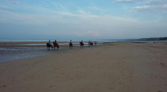 Evening ride on Omaha Beach