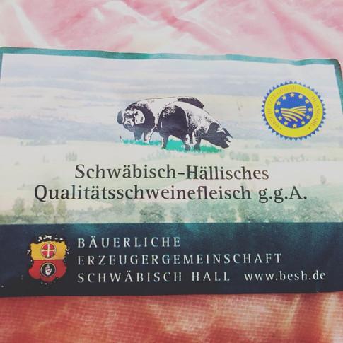 ... vom Schwäbisch-Hällischen Landschwein