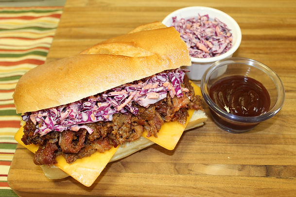 BBQ beef with coleslaw and BBQ sauce.JPG