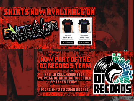 Awesome Announcements: 412nes Shirts on Endeavor After LLC & we have teamed up with DI RECORDS!!!