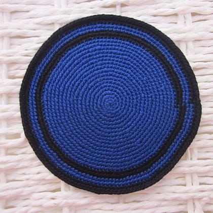 K01כחול  + פס כפול שחור
