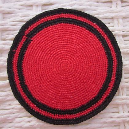 K02אדום  + פס כפול שחור