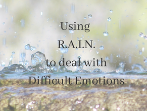 Using R.A.I.N. to cope with difficult emotions