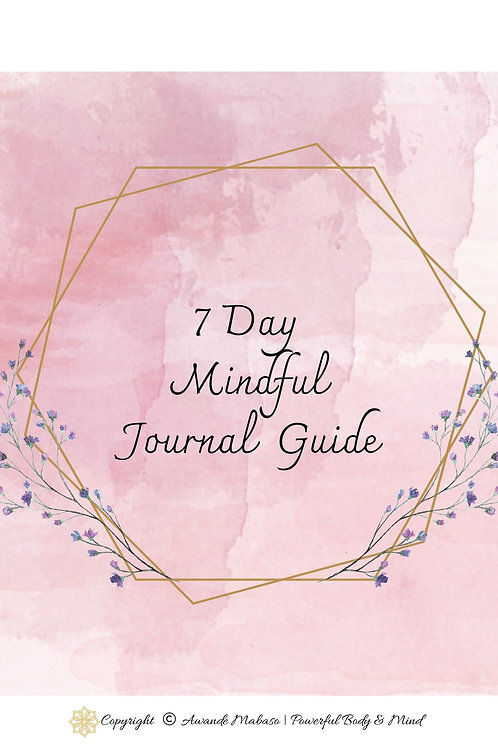 7 Day Mindful Journal Guide