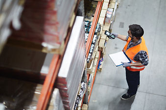 Employee working in a warehouse