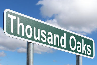 """This is an image of a sign that says """"Thousand Oaks"""" It was taken by Google Images under """"Labeled for reuse with modification"""""""