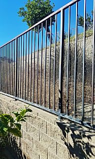 A gate with wire fencing