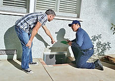 Speedy's Pest Solutions technician performing a residential pest inspection