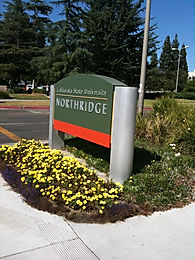 This is an image of a sign in California State University Nortridge in Northridge, CA. It was taken from Google Images ad is Labeled for reuse with modification