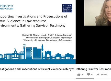 Supporting Investigations and Prosecutions of Sexual Violence in Kenya: Gathering Survivor Testimony