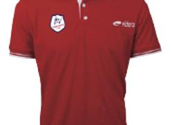 POLO MARCO rouge et blanc (logo ecusson)