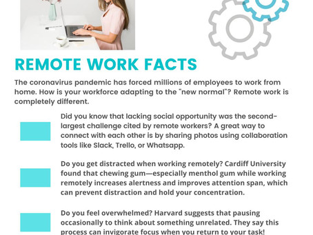 Remote Work Facts....it is completely different.