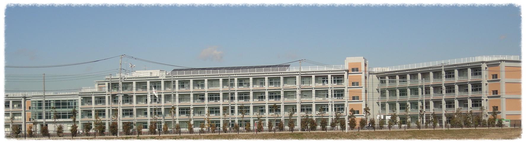 建物裏側から見た美園小学校