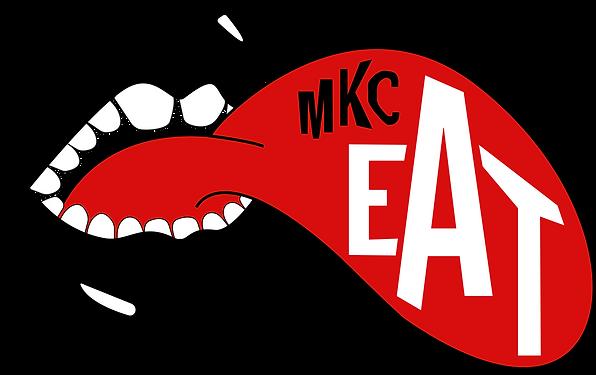 Mouth and tongue mkc eat logo