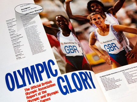 The official magazine of the 1992 Olympics for the British Olympic Committee