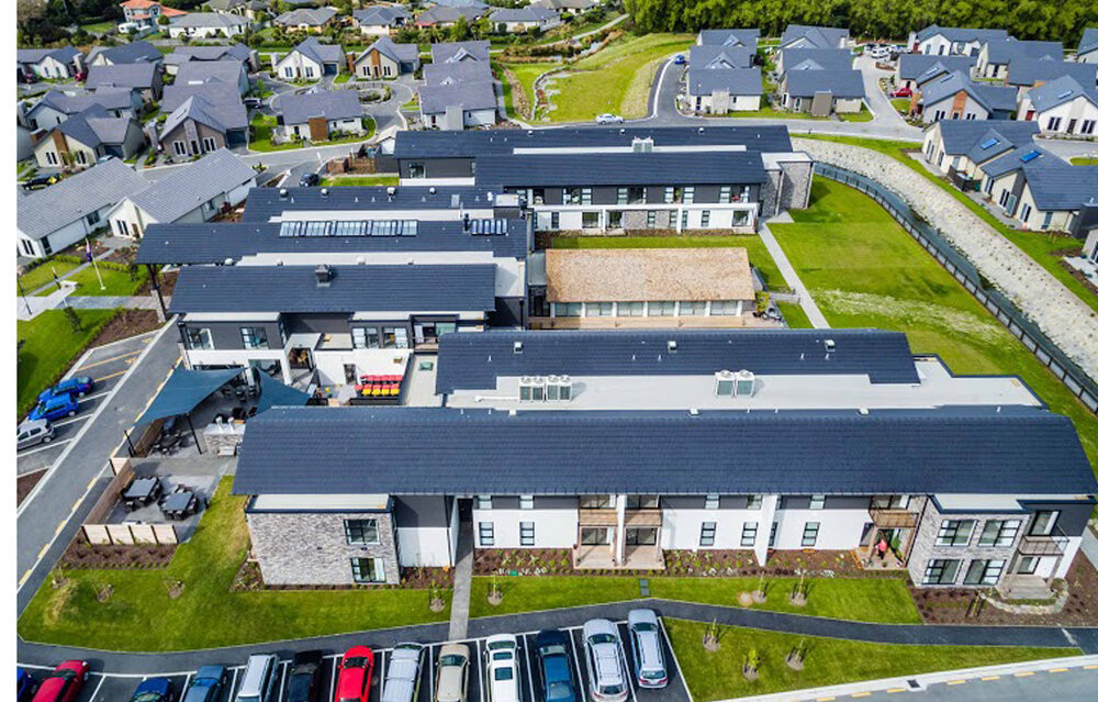 Trinity Construction Alpine View Retirement Village Christchurch aerial view