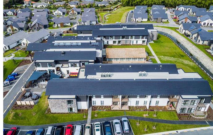 Trinity Construction Alpine View Retirement Village Christchurch aerial view