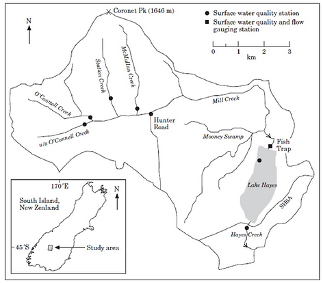 Lake Hayes catchment - Caruso 2001.png
