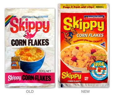 Sanitarium Skippy Cornflakes packaging revamp