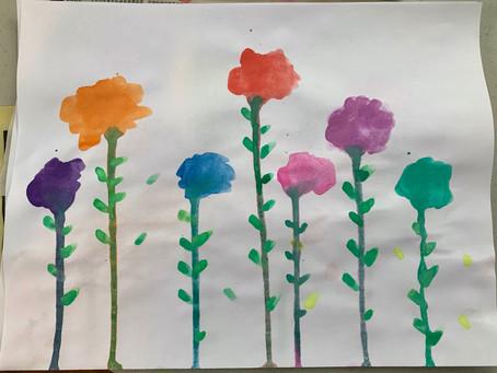 4/14/20 PreK-K, Drip Flowers
