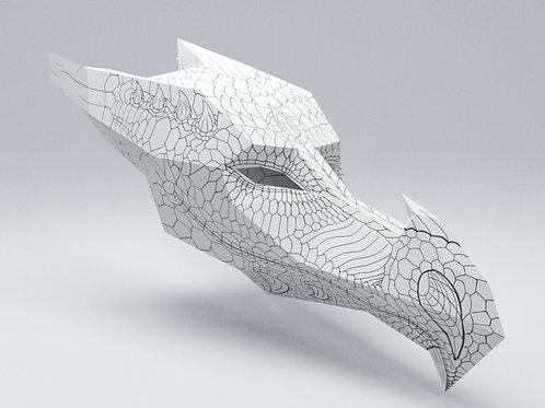 3D DRAGON ART MASK: KIDS SIZE - DOWNLOAD
