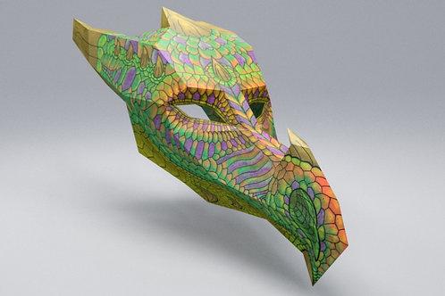 EARTH DRAGON 3D ART MASK: KID SIZE - HARDCOPY