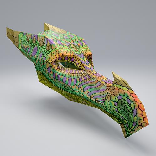 EARTH DRAGON 3D ART MASK: KIDS SIZE - DOWNLOAD