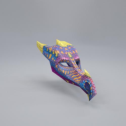 ICE DRAGON 3D ART MASK: KIDS SIZE - DOWNLOAD