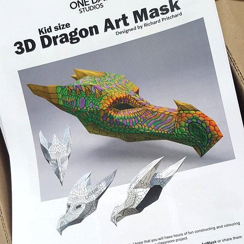 3D DRAGON ART MASK: KID SIZE - HARDCOPY
