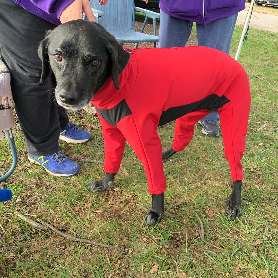 Lexi in insulated red