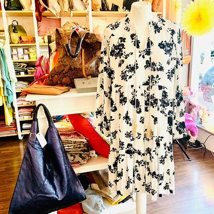 Kleid in Schwarz/Weiß
