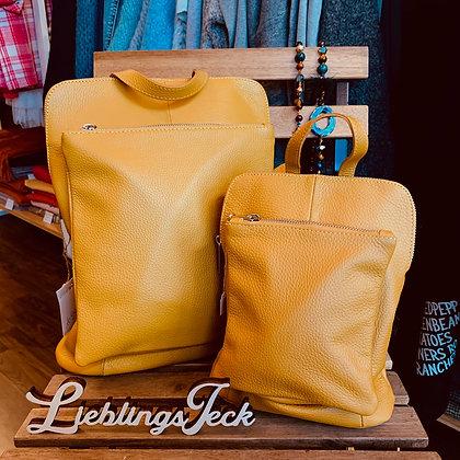 Rucksack-Tasche aus Leder