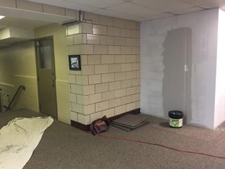 Bathroom renovation is underway