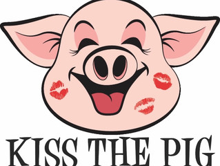 Mr. C has to kiss a pig!