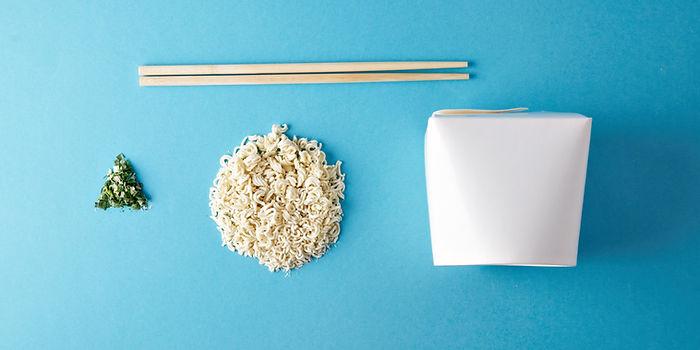 Commercial retail set of takeaway wok bu