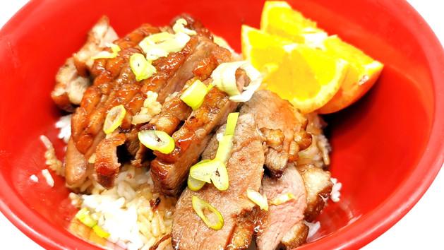 鮮橙鴨胸飯 Kamo Donburi - Gegrillte Ente an Orangen Sauce auf Reis