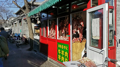 Halal meat seller.jpg Islamic influence