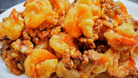 蜜醬桃仁蝦 Honig Walnuss Crevetten