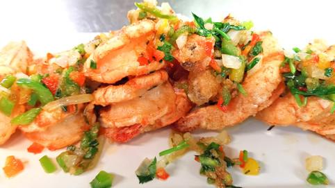 椒鹽大蝦 Crevetten mit Szechuanpfffer & Salz