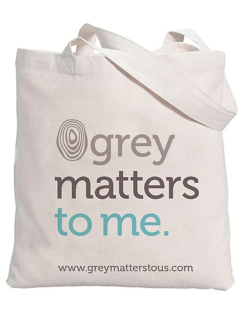 Grey Matters to Me Canvas Tote Bag