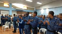 Celebración con la guardia en Bellavista