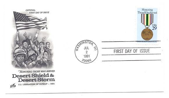 Fancy Cancelled Envelope 29¢ Desert Shield Storm U